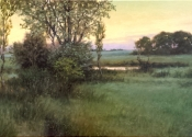 Dew on the Fields at Dawn, 15 x 30