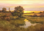SOLD - Meadowland Sunset, October, 24 x 36